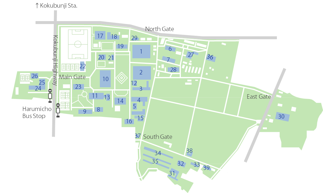 Fuchu Campus Map Transportation Guidance And Campus Maps
