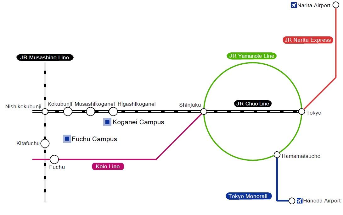 Transportation Guidance And Campus Maps Transportation Guidance - Fuchu map